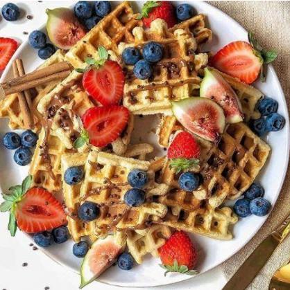 Receita sem Glúten: Waffles Saudáveis
