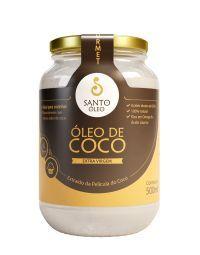 ÓLEO DE COCO SANTO ÓLEO EXTRAÍDO DA PELÍCULA DO COCO -  (ANTIGO VIRGEM) - 500 ML